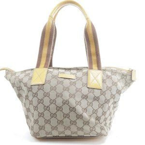 Gucci Vintage Web Small Monogram GG Tote Bag